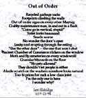 out of order poem