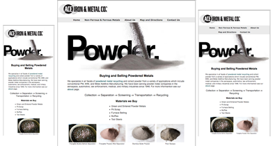 Ace Iron and Metal  responsive design