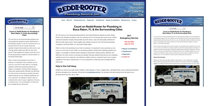 Reddi-Rooter Plumbing - A Mobile Friendly Design